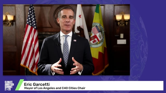 C40 Cities<br>Mayor Garcetti and Mayor Belmonte