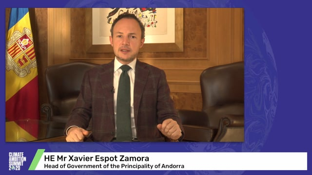 HE Mr Xavier Espot Zamora<br>Head of Government of the Principality of Andorra