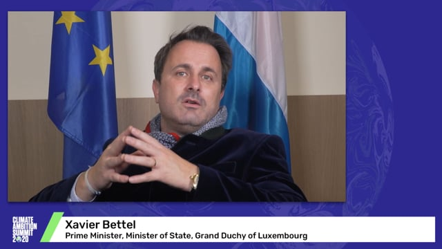 Xavier Bettel<br>Prime Minister, Minister of State, Grand Duchy of Luxembourg