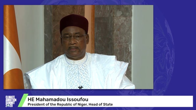 HE Mahamadou Issoufou<br>President of the Republic of Niger, Head of State