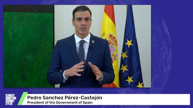 Pedro Sanchez Pérez-Castejón<br>President of the Government of Spain