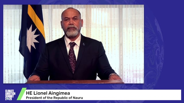 HE Lionel Aingimea<br>President of the Republic of Nauru