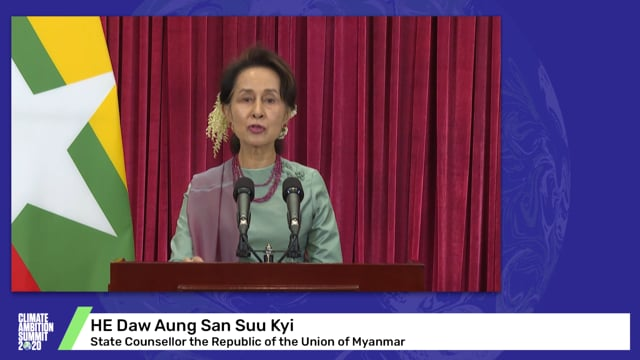 HE Daw Aung San Suu Kyi<br>State Counsellor the Republic of the Union of Myanmar