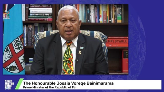 The Hon Josaia Voreqe Bainimarama<br>Prime Minister of the Republic of Fiji