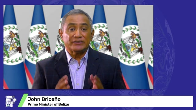 John Briceño<br>Prime Minister of Belize