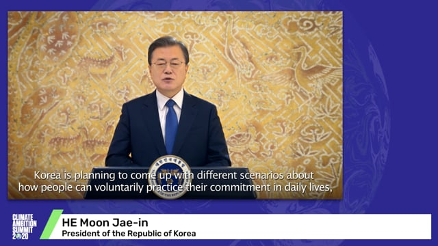 HE Moon Jae-in<br>President of the Republic of Korea