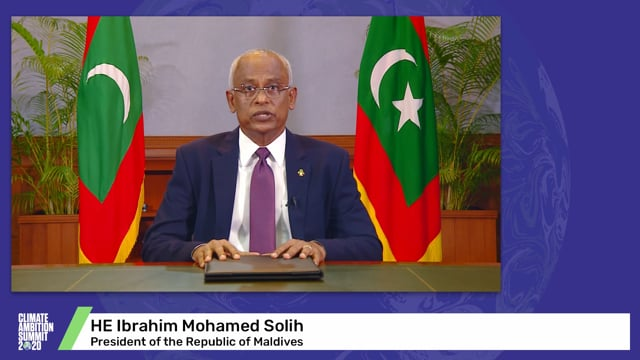 HE Ibrahim Mohamed Solih<br>President of the Republic of Maldives