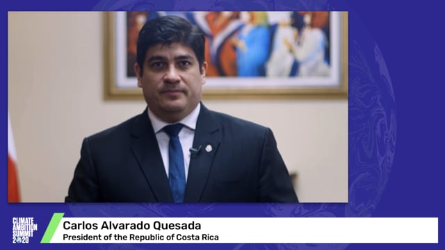 Carlos Alvarado Quesada<br>President of the Republic of Costa Rica