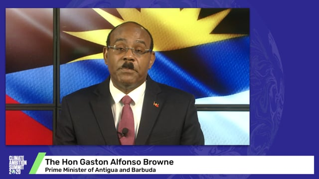 Hon Gaston Alfonso Browne<br>Prime Minister of Antigua and Barbuda