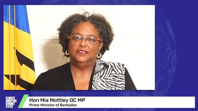 Hon Mia Mottley, QC, MP<br>Prime Minister of Barbados