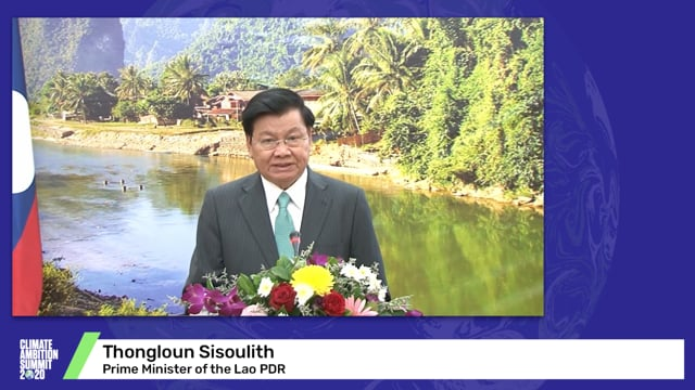 Thongloun Sisoulith<br>Prime Minister of the Lao PDR