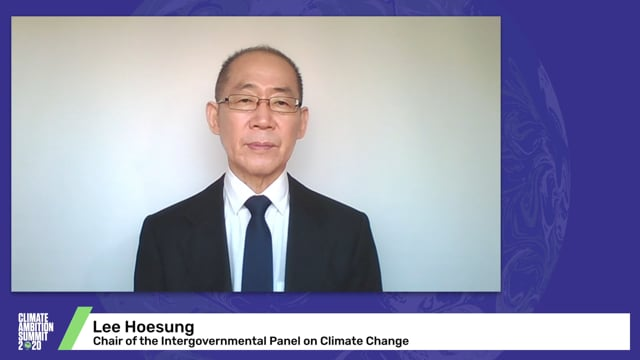Hoesung Lee<br>Chair of the Intergovernmental Panel on Climate Change