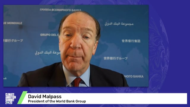 David Malpass<br>President of the World Bank Group