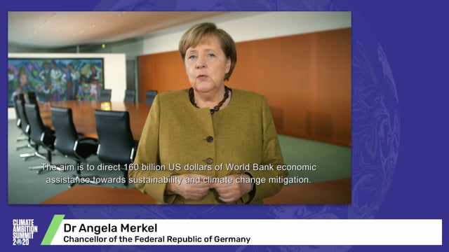 Dr Angela Merkel<br>Chancellor of the Federal Republic of Germany