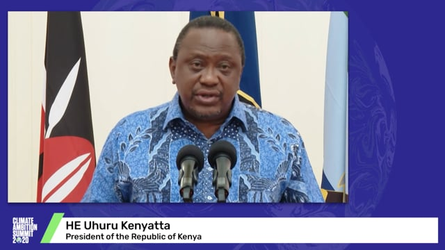 HE Uhuru Kenyatta<br>President of the Republic of Kenya