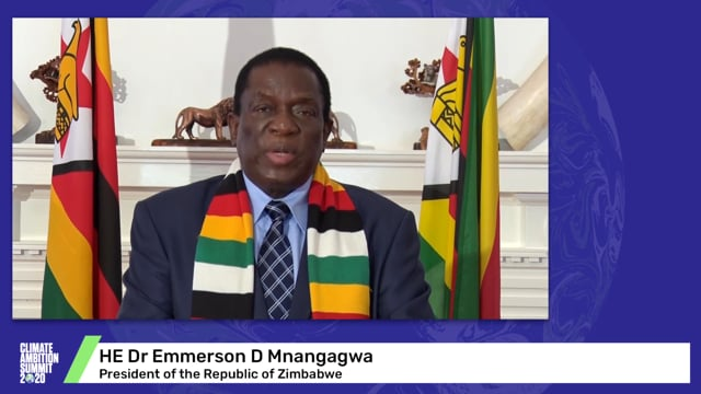 HE Dr Emmerson D. Mnangagwa<br>President of the Republic of Zimbabwe