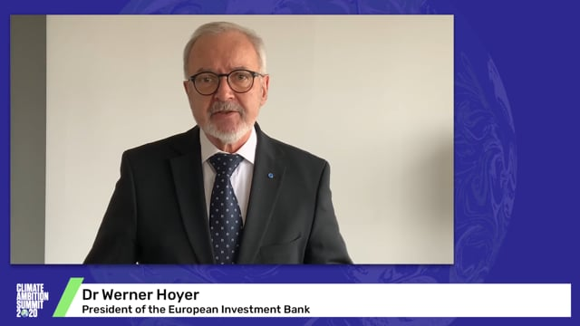 Dr Werner Hoyer<br>President of the European Investment Bank