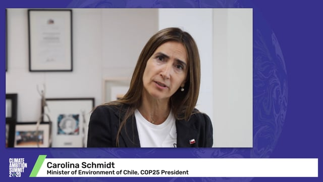 Carolina Schmidt<br>Minister of Environment of Chile, COP25 President