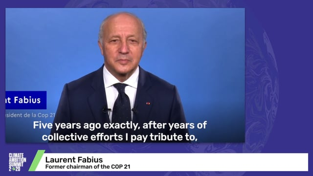 Laurent Fabius<br>Former chairman of the COP 21