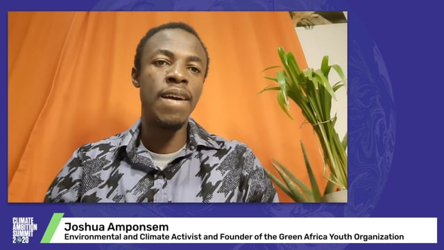 Joshua Amponsem<br>Environmental and Climate Activist and Founder of the Green Africa Youth Organization