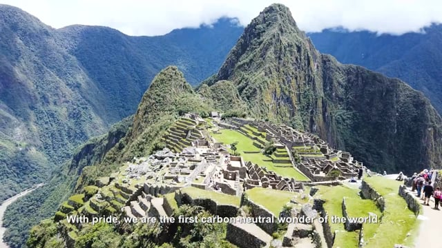 Machu Picchu Carbon Neutral Destination<br>World Tourism Organization